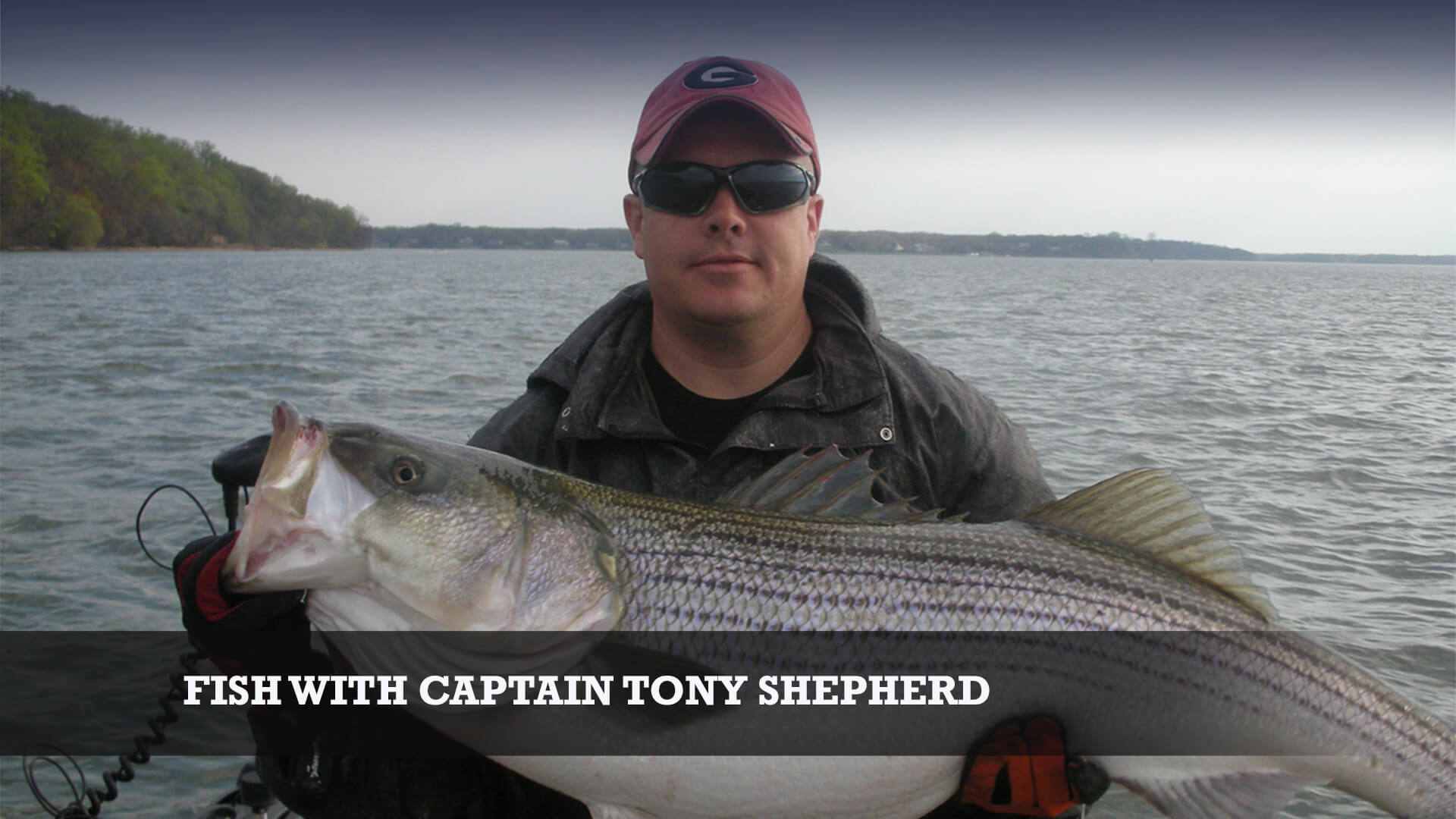 Captain Tony Shepherd striper fishing guide Little River Guide Service Clarks Hill Lake GA Lake Strom Thurmond SC